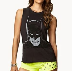 Batman Gray Muscle Tank